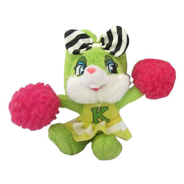 这款毛绒玩具-拉拉队小兔,既老实又可爱,亭亭的站姿,和它跳舞的姿势
