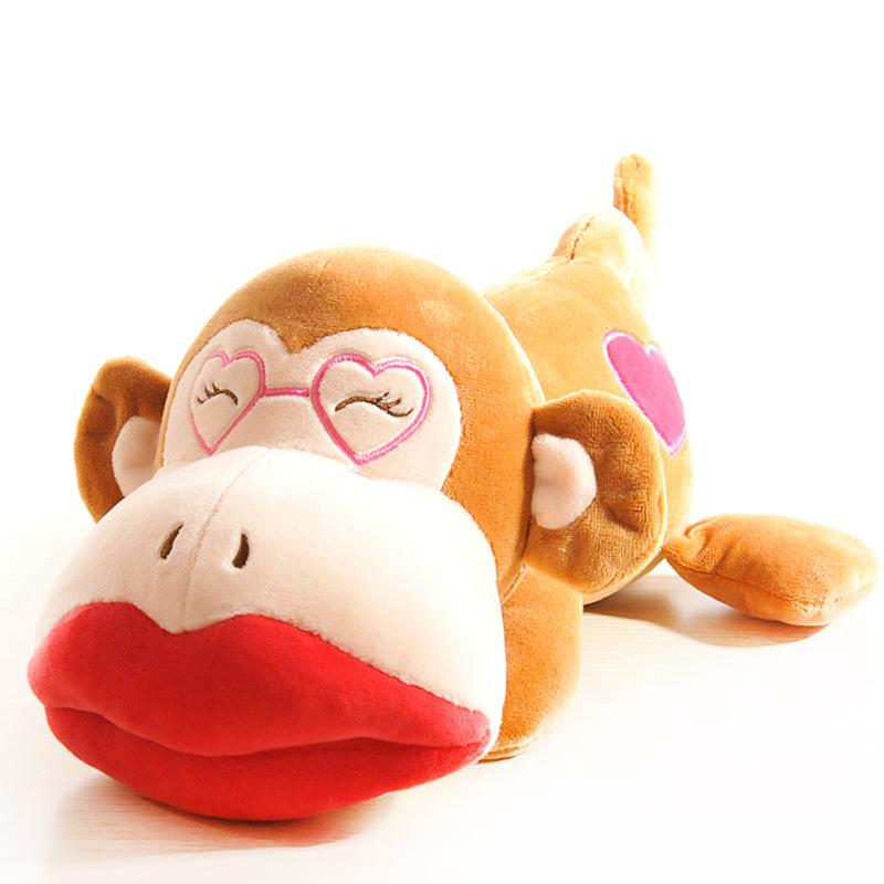 猴年吉祥物可爱条纹猴子公仔毛绒玩具